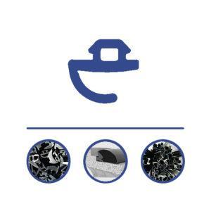 Uszczelka EPDM Przymkowa 5mm, rolka 475m, 120553