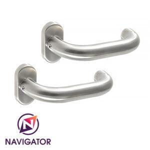 NAVIGATOR-Klamko-Klamka AK2, Szyld Dzielony T8, INOX