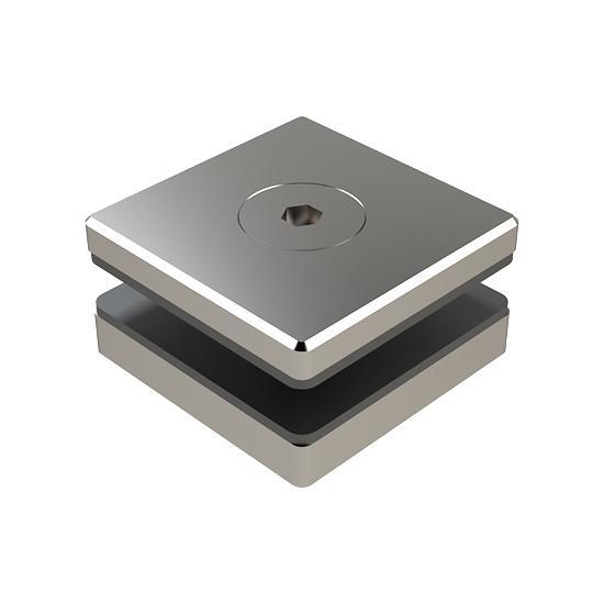 Mocowanie Punktowe Kwadratowe MS, 50x50mm, Dystans