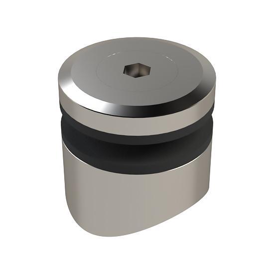 Mocowanie Punktowe MS, FI30mm, Frezowane pod Słupek Okrągły FI42,4mm, Szkło 6-15mm