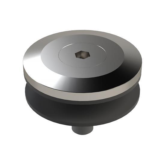 Rozeta Mocowania Punktowego MS, FI50mm, do Podstawy SS1, Szkło 10-22mm