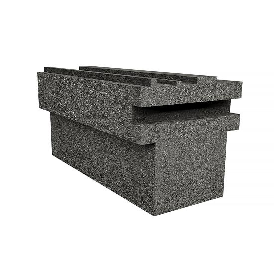 Profil do HS BLACK, 1300mm, 170/120mm, H25mm