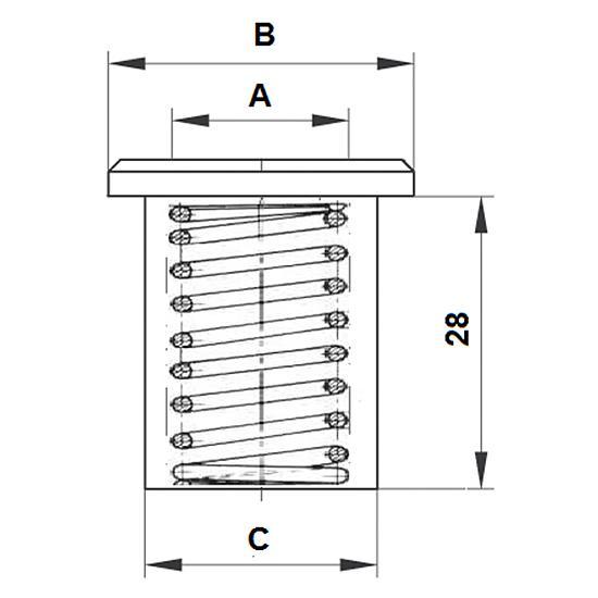 Tuleja Podłogowa 12mm, NIKIEL